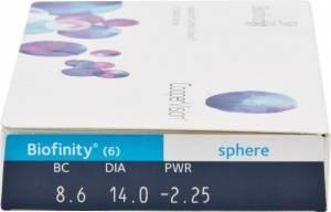 Контактные линзы Biofinity (6 линз)